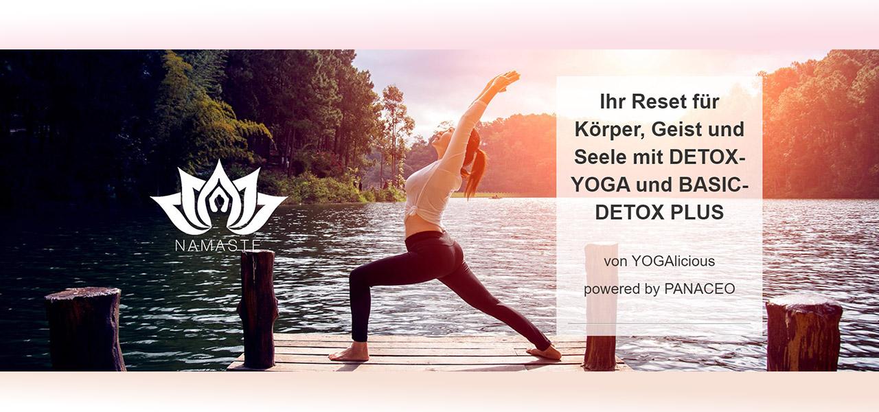 AKTION & GEWINNSPIEL im Juni/Juli mit Detox-Yoga powered by YOGAlicious und BASIC-DETOX PLUS