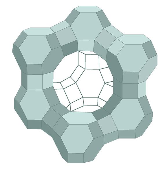 Zeolith Kristallgitter